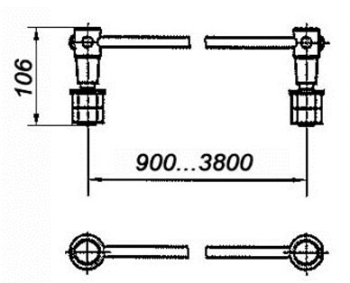 Соединитель электротяговый с обычным и эластичным проводом  сечением 70, 95 120мм2: