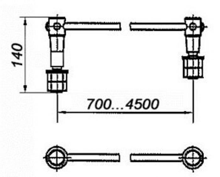 Соединитель электротяговый с обычным и эластичным проводом сечением 70, 95, 120мм2 и одним удлиненным штепселем: