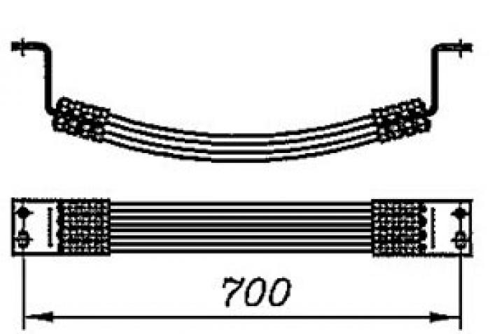 Перемычка междроссельная с обычным и эластичным проводом сечением 70,95,120мм2 на 8 проводов длинной 700мм: