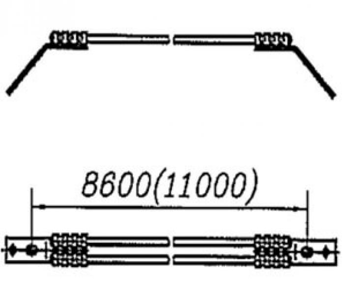 Перемычка междроссельная с обычным и эластичным проводом сечением 70,95,120мм2 на 2 провода: