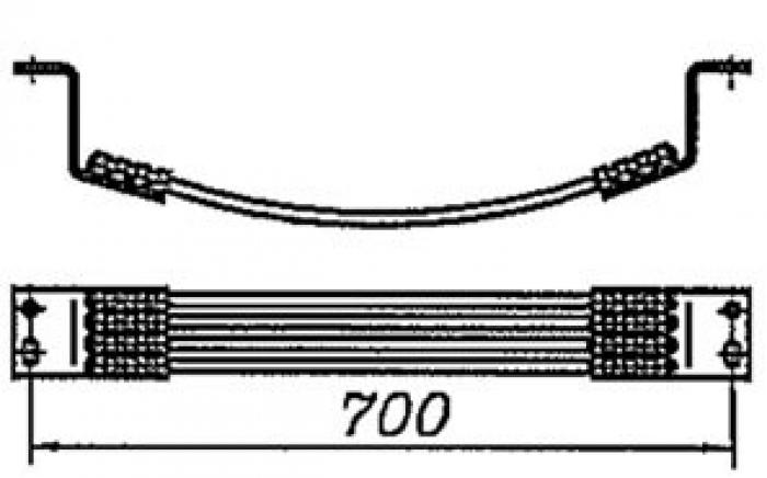 Перемычка междроссельная с обычным и эластичным проводом сечением 70,95,120мм2 на 4 провода длинной 700мм: