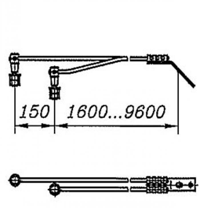 Перемычка дроссельная с обычным и эластичным проводом сечением 95мм2 на 2 провода: