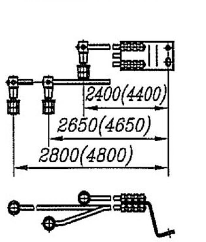 Перемычка дроссельная с обычным и эластичным проводом сечением 70, 95,120мм2  на 3 провода: